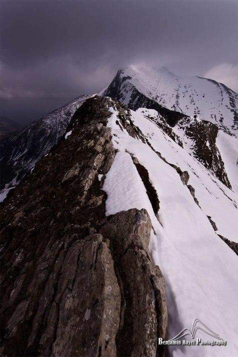 Les crêtes du Zazpigaina en approche du sommet d'Orhy- Pays Basque 64